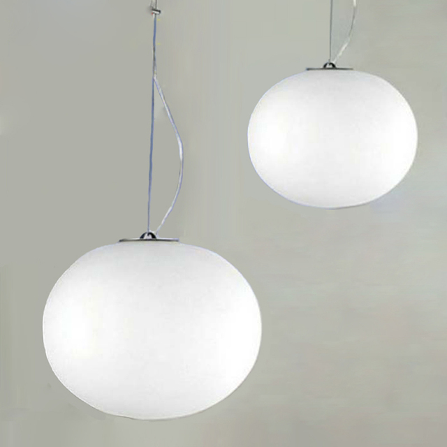 Modern Minimalist Pendant Lights Milk White Glass Ball