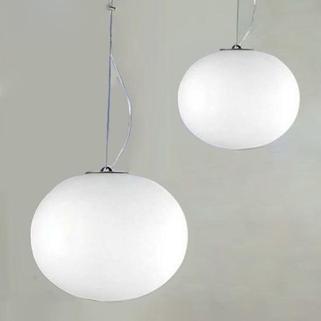 Modern Minimalist Pendant Lights Milk White Glass Ball ...