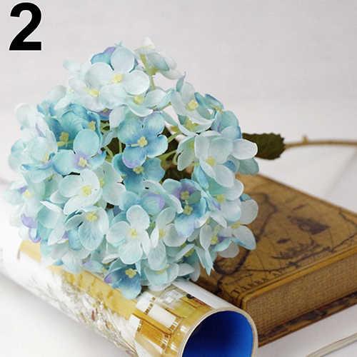 Mode 1 Boeket Faux Kunstmatige Zijde Bloem Hortensia Bladeren Wedding Party Decor Craft