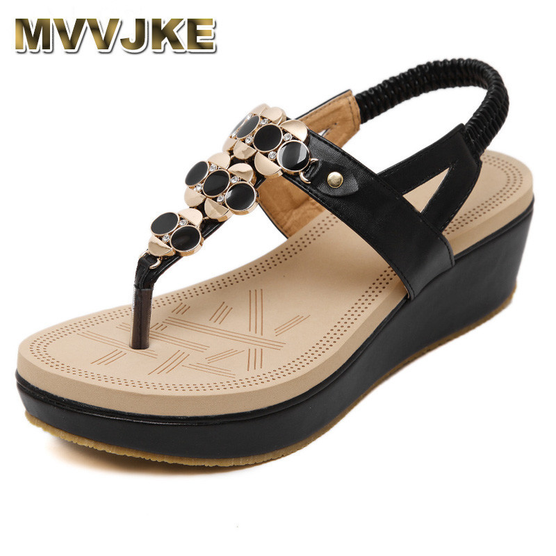 MVVJKE Summer Comfortable Sandals Women Platform Sandals Fashion Flip Flops Shoes Woman Sandals 35-40 fashion sandals women comfortable party high heel flip flops 2018 summer sandals wedges shoes chaussures femme