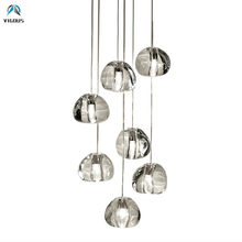 Villa Stairs Irregular Meteor G4 Luminaria Led Chandelier Lustre Crystal GU10 Spotlight Pendant Chandelier Indoor Lighting(China)
