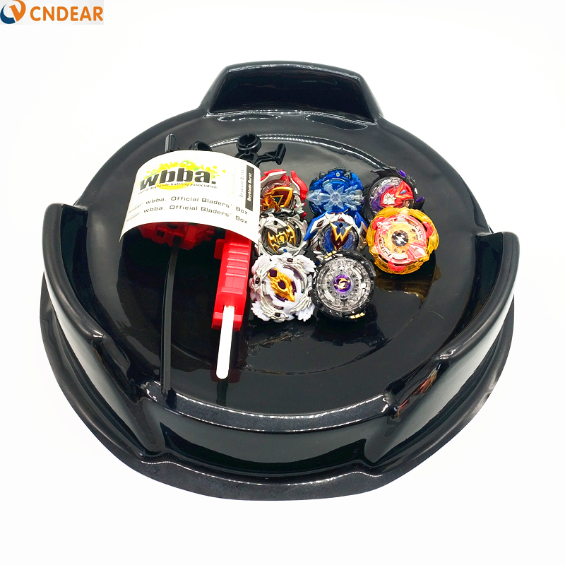Style chaud 8 pièces Beyblade éclater jouets noir arène ensemble vente métal Fusion dieu filature Top lame jouet Arena003