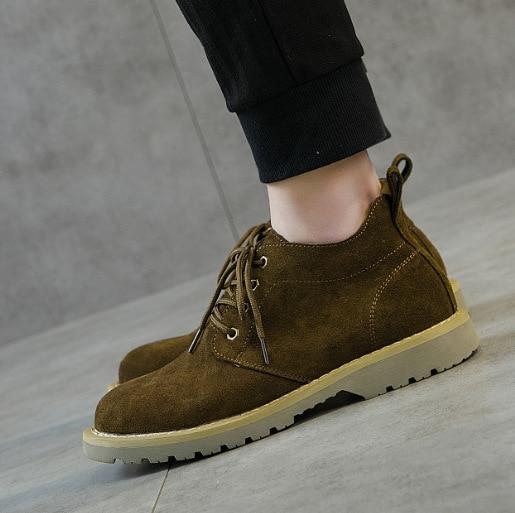 Moda Ocasional Militar Sapatos Botas Sólido Negócio Pu up Homens Red rosy De Martin Ocidentais Outono Boots Bege Ankle Baixo Primavera Lace Costura Trabalho Dos TyqRPZZw