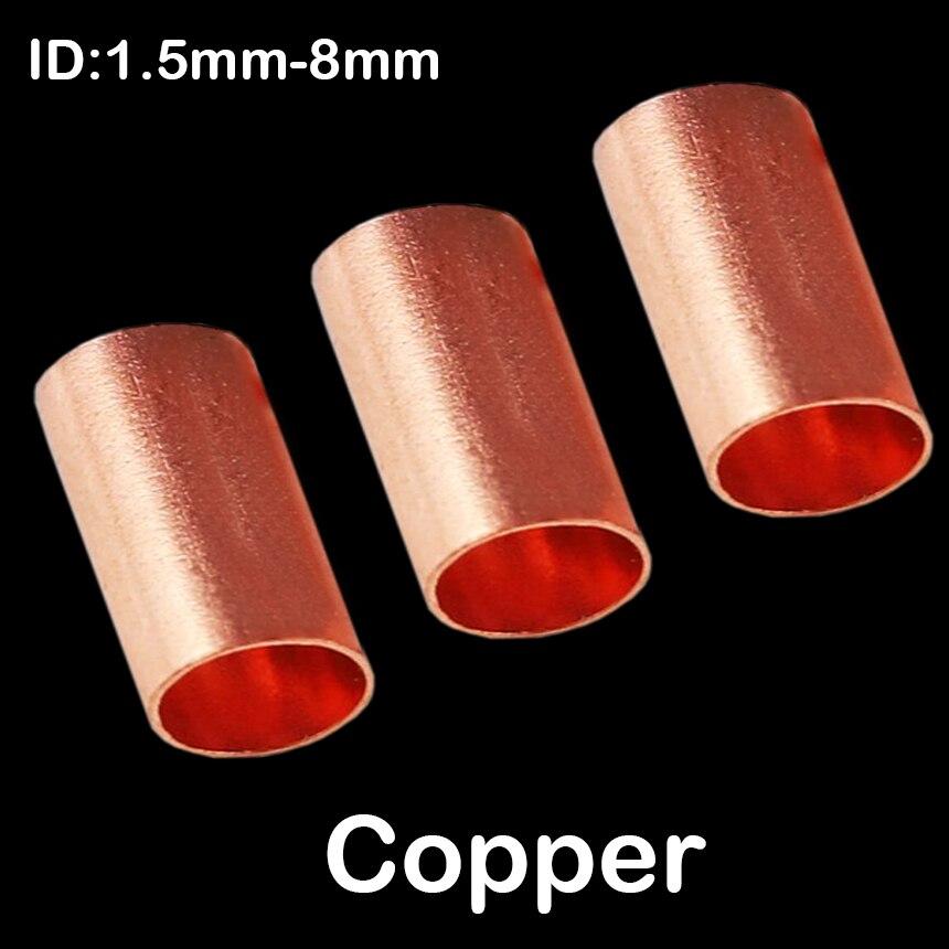1,5mm 2,5mm 3mm 4mm ID 12mm longitud cobre desnudo no aislante conector tubo manga férula Cable Terminal de crimpado