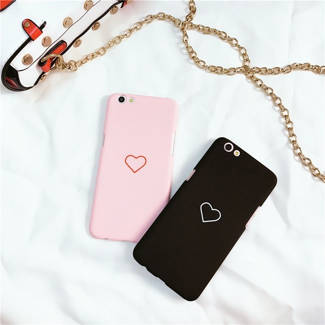 Love Heart Painted Phone Case For Vivo V5s Case Fashion Couples Back Cover  For Vivo V5 2675c55f79cd