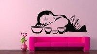 Thai Massage Wall Decal Girls Beauty Salon Vinyl Wall Stickers Spa Interior Rooms Decor Design Fashion