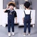 Новое поступление 2016 новорожденных девочек и мальчиков комбинезоны мода корейской детской одежды ребенок джинсовые комбинезоны девушки жан комбинезон мальчиков комбинезоны