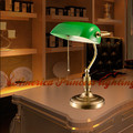 All copper metal decorative retro small table lamp study bedroom bedside lamp, made of copper, E27, AV90-260V