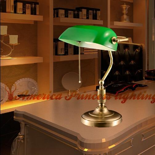 Small Decorative Lamp: Copper Metal Decorative Retro Small Table Lamp Study
