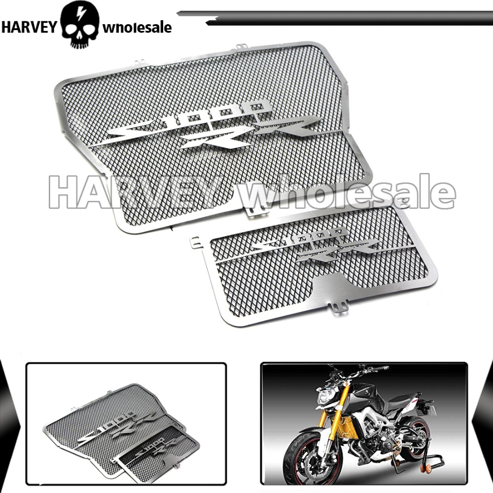 Motorcycle Radiator Grill + Oil Cooler Guard Cover Protector For 2009 2010 2011 2012 2013 2014 2015 BMW S1000RR S1000 RR ABS K46 motorcycle parts radiator grille protective cover grill guard protector for 2007 2008 2009 2010 2011 2012 kawasaki z750