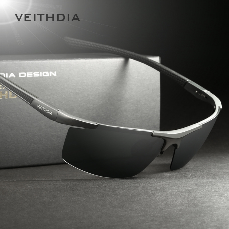 VEITHDIA óculos de Sol Revestimento Polarizada Espelho Óculos de Sol dos homens de Alumínio E Magnésio óculos Masculinos Óculos Acessórios Para Homens 6588