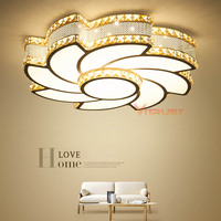 Crystal Chandeliers Ceiling Flush Mount Ceiling Light Simple Decoration Fixtures Study Dining Room Balcony Bedroom 85 265V