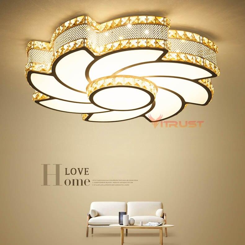 Lustres en cristal plafond encastré plafonnier Simple décoration luminaires étude salle à manger balcon chambre 85-265 V