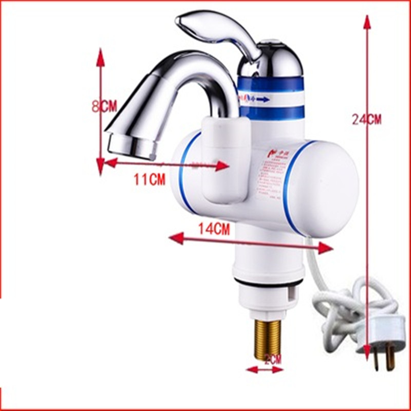 W818-9,3000W Instant Hot Water Faucet,Electric Instant Water Heater,Tap Kitchen Electric Hot Water Tap,Heating Faucet EU Plug