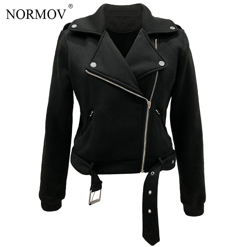 NORMOV Lapel Self-cultivation Jacket Women Female Slim Short Jacket Female  Women Winter And Autumn New Fashion Coat