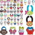 10pcs/Lot Cotton Baby Bibs Infant Saliva Cartoon Baby Bandana Bibs Towels Baby Bibs Waterproof Baberos Baby Girl Slabbers