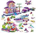 Kits de edificio modelo compatible con lego city girls amigos Gold Coast 1205 unids 3D modelo de construcción bloques Educativos juguetes aficiones