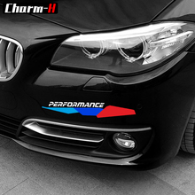 2X New M Performance Front Bumper Decal Stickers For BMW e90 e46 e39 e60 f30 f31 g30 e53 f16 f10 f34 x3 x4 x5 e70 f15 M3 M5 Z4 for bmw e90 e92 e93 f20 f21 f30 f31 f32 f33 f34 f15 f10 f01 f11 f02 g30 m performance side skirt sill stripe body decals sticker