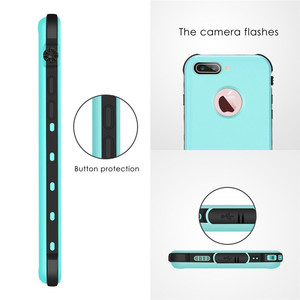 Image 2 - For iPhone 7 plus Waterproof Case Ultra Slim Thin life water Dust Shock proof Case Full Body Protective Cover for iPhone7 7plus