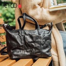 купить AETOO Soft cowhide oblique Cross packets shoulder handbag new literature and art small fresh leather female bag dumpling bag по цене 7068.69 рублей