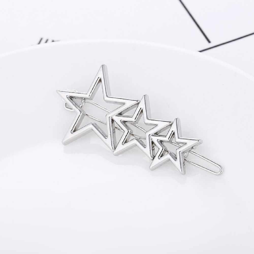 1 шт., женские металлические шпильки с тремя звездами, заколка для девочек, заколки для волос, заколка для волос, свадебные пентакли, аксессуары для укладки волос, Прямая поставка
