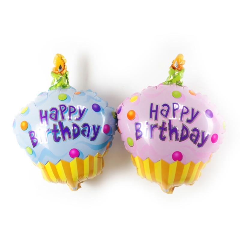 Cake Foil Balloons mini Birthday Balloon Happy Birthday Decoration Party Supplie