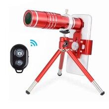 2017 Universal 18X Phone Camera Lenses Kit Telescope Zoom Lentes Telephoto Lens For iPhone 5s 7 6 6s Plus Smartphone With Tripod