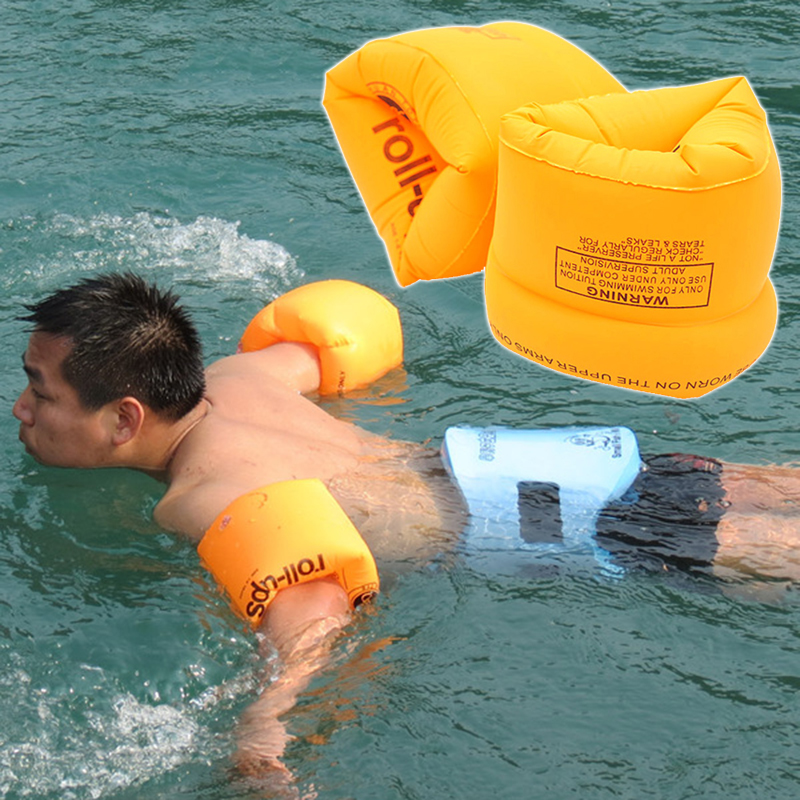 1Pair PVC Swimming Arm Ring Circle Float Water Air Sleeves For Adult Child Safety Training Inflatable in the Swim Pool & Sea