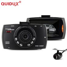 QUIDUX 2 7 inch car dvr dual camera Full HD 1080P Dash Cam Car Video Camera