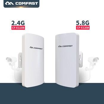 3 km puntos de acceso de largo alcance 5 GHz 2,4g exterior CPE inalámbrico WIFI repetidor WIFI extensor 300 Mbps exterior AP puente cliente Router