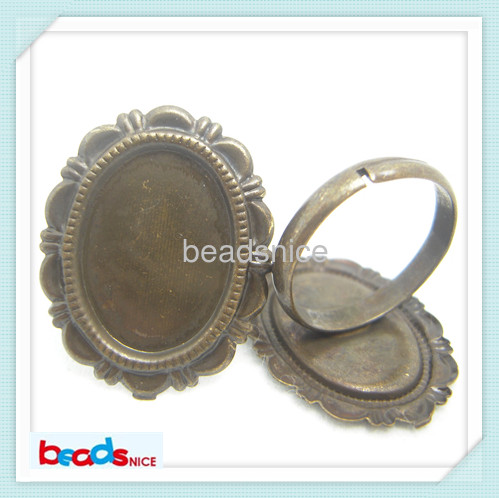 Beadsnice ID21738 diy jewelry of hot sale lead safe nickel free brass ring bases ring bl ...