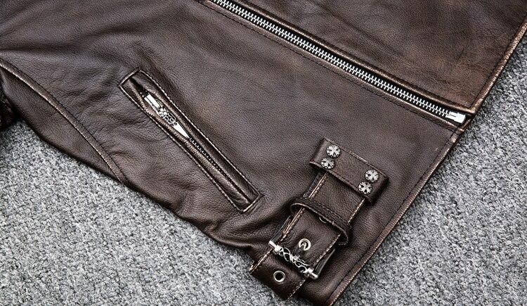 HTB1QRSDKf5TBuNjSspmq6yDRVXay MAPLESTEED Brown Distressed Motorcycle Jacket Men 100% Calf Skin Classic Slim Leather Jacket Man Moto Biker Coat Winter 5XL M190