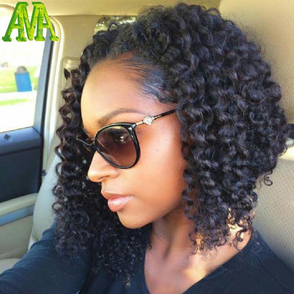 100% Virgin Brazilian Curly Full Lace Wigs Cheap Half Machine Made Glueless  Short Human Hair Wig Natural Black Human Hair Wigs-in Human Hair Lace Wigs  from ... 82101962a926