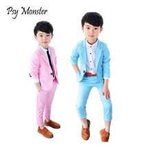 Boys Formal School Suits for Weddings Brand Prince Kids Party Tuxedos Boys Gentlemen Birthday Dress Blazer Pants 2PCS Costume(China)