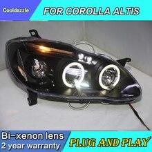 Для TOYOTA COROLLA ALTIS светодиодный головной светильник ангельские глазки фары 2001 2002 2003 2004 2005 2006 год