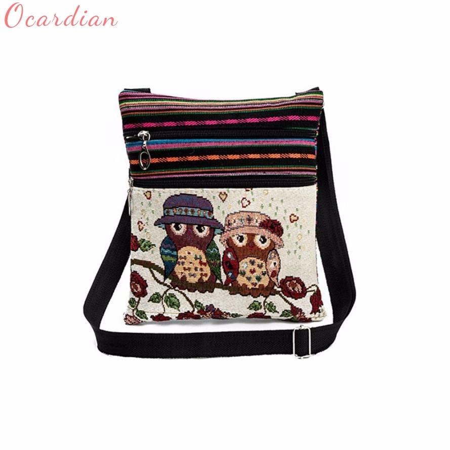Embroidered Owl Tote Bags Women Shoulder Bag Handbags Postman Package Drop Shipping Wholesale браслет коюз топаз браслет т14010689