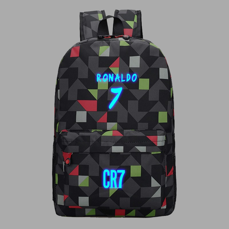 Backpack School Bags for Teenagers Boys Back Pack Men Ronaldo Fashion Bookbags for Children Cool Traveling Schoolbags Rucksack