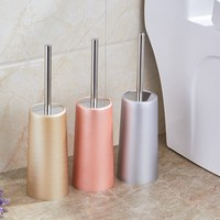 Multi Colors Bathroom Cleaning Brush Holder With Stand Set Bathroom Accessories Stainless Steel Toilet Brush Kit