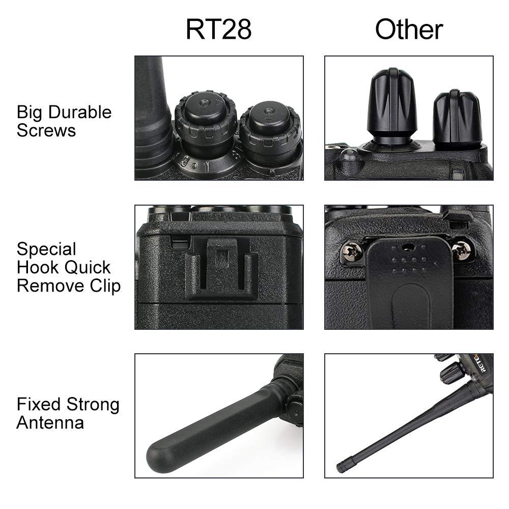 4 pièces rechapé RT28 talkie-walkie PMR Radio VOX PMR446/FRS Micro USB charge Portable Mini émetteur-récepteur de Station de Radio bidirectionnelle - 5