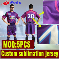 Hot Sale Quick Dry Football Jersey Set Kits Best Thai Quality Sublimated Football Uniform Set