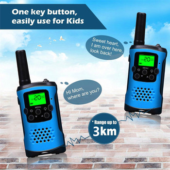 2Pcs Two Way Radio Kids Walkie Talkie for Motorola Mini children's outdoor self driving walkie talkie Gadget up to 6km 1