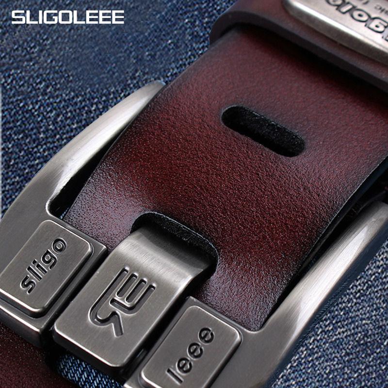 Sligoleee fashion golf leather belt for men design high for Sligo golf shirts discount