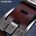 SLiGOLEEE Fashion Golf Leather Belt For Men Design High Quality Golf  Tour Logo Buckle Belt Boy's Waistband  Stylish Belts Men