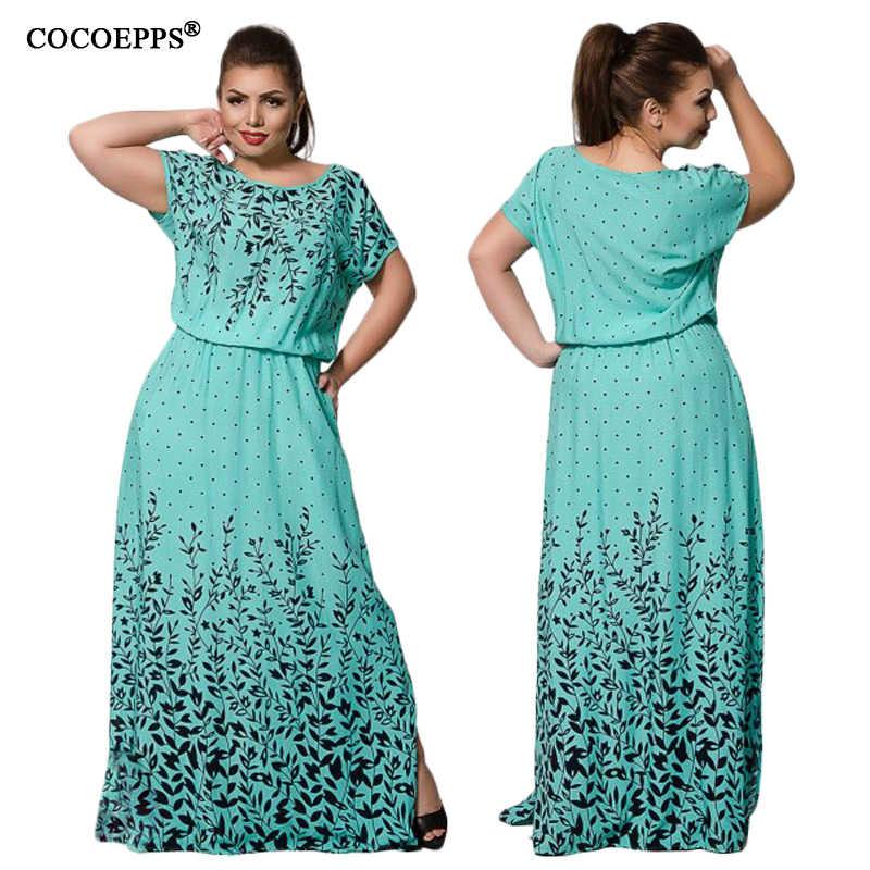 vintage 6XL big sizes maxi long dresses women clothing fashion dress 2019  Summer Evening Party Plus f26391792ce9