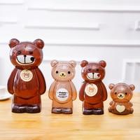18cm Money Box Piggy Bank Bear Plastic Coin Bank Cartoon Money Saving Box Home Decor Figurines