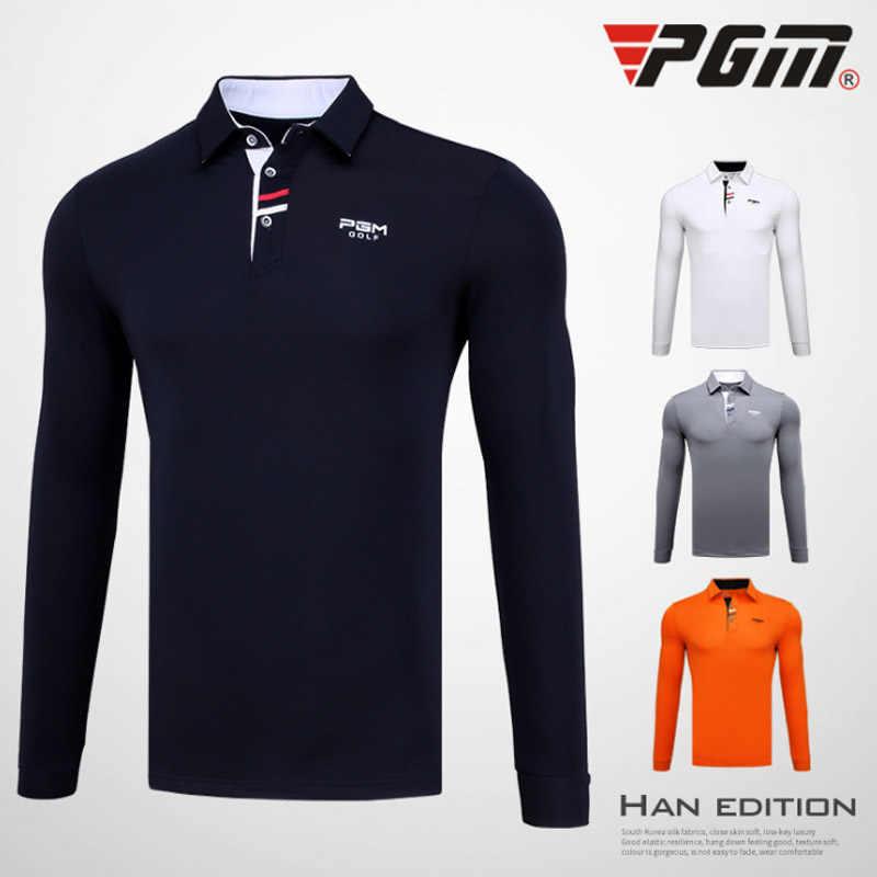 Yeni PGM erkek Golf Uzun Kollu T gömlek Adam Açık Spor Turn down tam kollu TShirt Erkekler Yumuşak Konfor maç Erkek Formaları