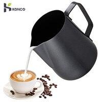 Konco 스테인레스 스틸 스테인레스 스틸 우유 frothing 용기 에스프레소 커피 투수 바리 스타 크래프트 커피 라떼 frothing 주전자 투수