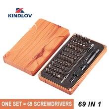 KINDLOV מברג סט 69 ב 1 דיוק Destornillador רב פונקציה מגנטי מברג ביטים פירוק תיקון יד כלים