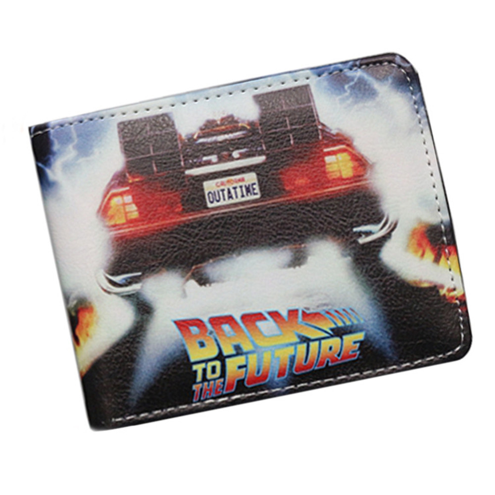 Back to the Future Anime Movie Boys girls Wallet Cartoon Student short wallet coin bag credit cards holder carteira masculina