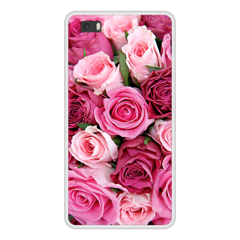 Case Cover For Huawei P8 P 8 Lite Lite Soft Silicone TPU Floral Flower Paint Coque For Huawei P8lite ALE L21 Phone Cases